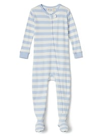 Organic Stripe Footed One-Piece