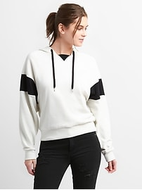 Colorblock Pullover Hoodie in French Terry