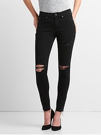 Washwell Mid Rise True Skinny Ankle Jeans in 360 Stretch