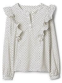 Ruffle henley shirt