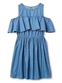 Denim Cold-Shoulder Dress