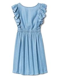 TENCEL&#153 Denim Ruffle Dress