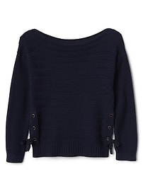 Tie-Side Pullover Sweater