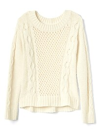 Pull en tricot torsadé texturé