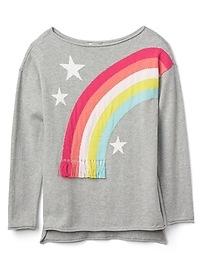 Rainbow Boatneck Sweater