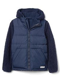 Cozy 3-in-1 puffer jacket