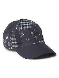 Floral Patchwork Baseball Hat
