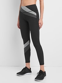 gFast High Rise Spliced Cotton Performance Leggings