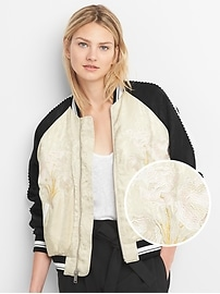 Limited Edition Embroidered Jacquard Bomber Jacket