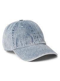 Washed Denim Baseball Hat