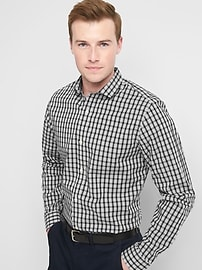 Zero-Wrinkle slim fit shirt