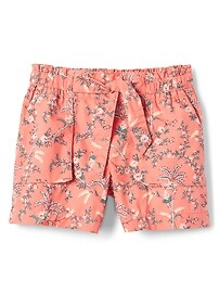 "3.5"" Floral Paperbag Waist Shorts"