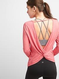 T-shirt à manches longues GapFit Breathe noué au dos