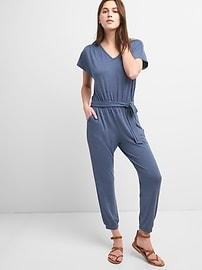 Softspun Short Sleeve Jumpsuit