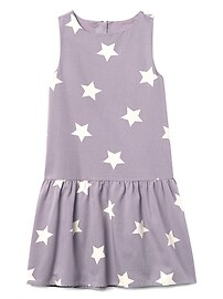 Star drop-waist dress