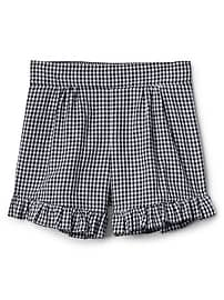"3.5"" Gingham Ruffle Shorts"