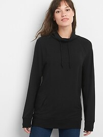 Funnel-Neck Pullover Sweatshirt