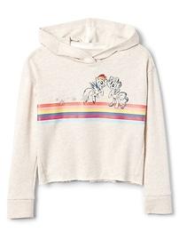 GapKids &#124 Hasbro&#169 Crop Hoodie Sweatshirt