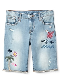 """Gap for Good 8"""" Embroidery Bermuda Shorts"""