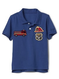 Patch Polo T-Shirt