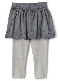 Legging avec jupe en tissu ajouré