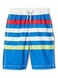 """8"""" Stripe Swim Trunks"""