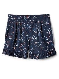 "3.5"" Print Ruffle Shorts"