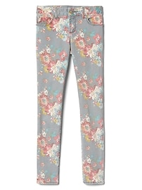Mid Rise Floral Supersoft Super Skinny Jeans in High Stretch