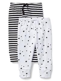 Pantalon rayé à enfiler Cuddle and Play (paquet de2)