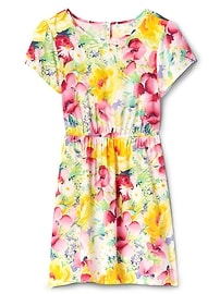 Print Cinched-Waist Dress