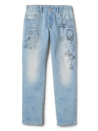 Indestructible Superdenim Graffiti Slim Jeans