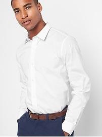 Zero-wrinkle slim fit shirt