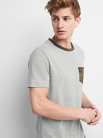Short Sleeve Camo Pocket T-Shirt