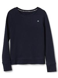 GapFit Kids Open-Back Pullover Sweater