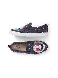 Glitter Emoji Slip-On Sneakers