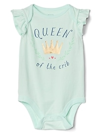 Queen Flutter Sleeve Bodysuit