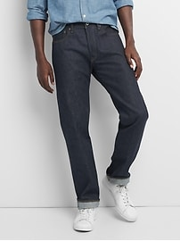 Cone Denim&#174 Selvedge Jeans in Straight Fit with GapFlex
