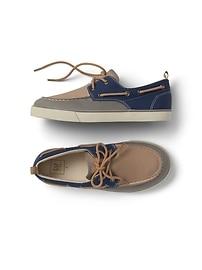 Chaussures de bateau à bloc de couleur