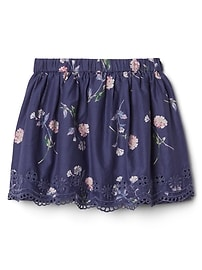 Eyelet Floral Skirt