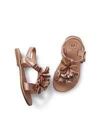 Sandales scintillantes ornées de franges