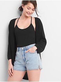 Cocoon Open-Front Cardigan Sweater