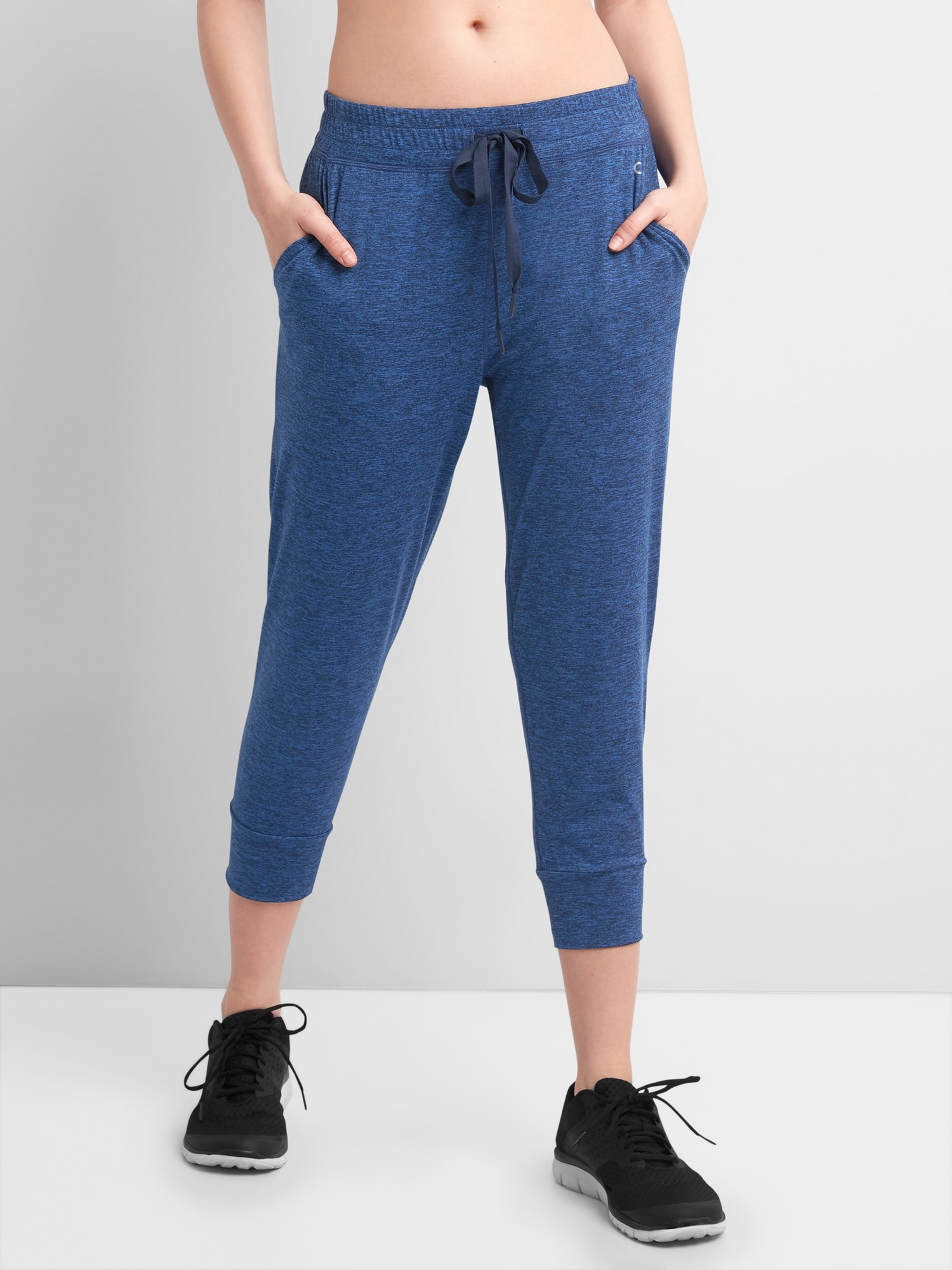 GapFit Crop Joggers in Brushed Jersey