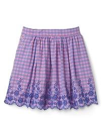 Gap &#124 Sarah Jessica Parker Embroidery Gingham Skirt