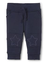 Pantalon à enfiler à motifs d'étoiles en molleton