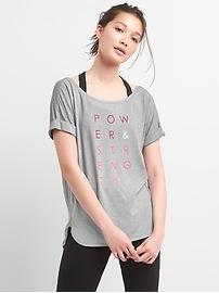 GapFit Breathe Graphic Roll Sleeve T-Shirt
