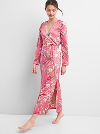 Dreamwell Floral Print Robe in Satin
