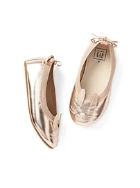 Metallic Cat Ballet Flats