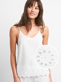 Eyelet Embroidery Cami