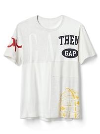 T-shirt ras du cou à manches courtes Gap à logo Remix