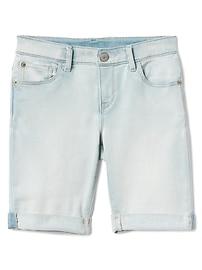 """Gap for Good 8"""" Denim Bermuda Shorts with Fantastiflex"""